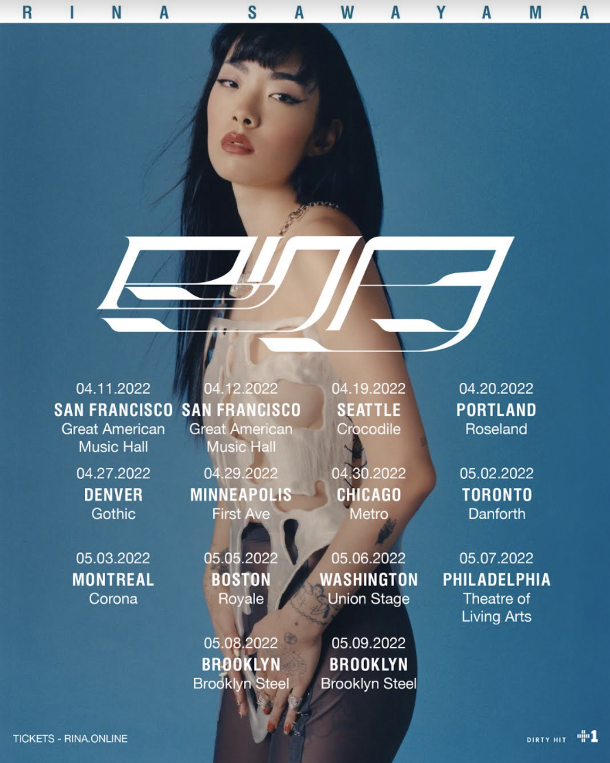 rina sawayama tour poster Rina Sawayama Reschedules North American Tour for 2022