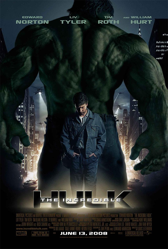 incredible hulk poster Every Marvel Movie and TV Show Ranked From Worst to Best